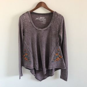 NWT Affliction Standard Series Waffle Knit Top S